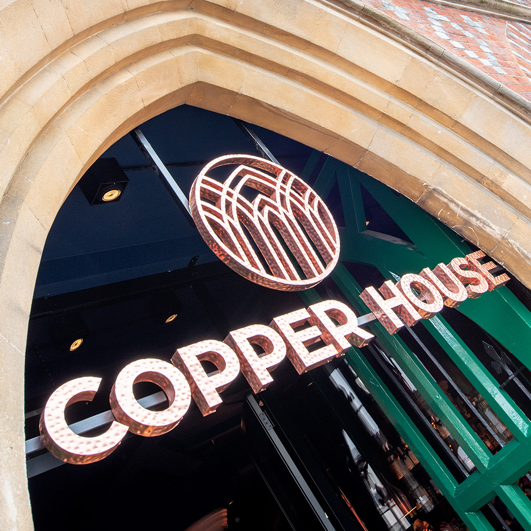 Copper House Bar – External sign